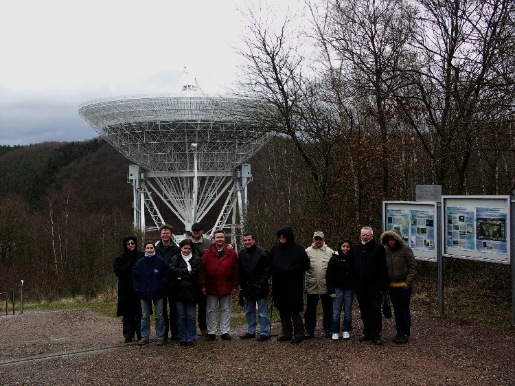 Das Radioteleskop bei Effelsberg