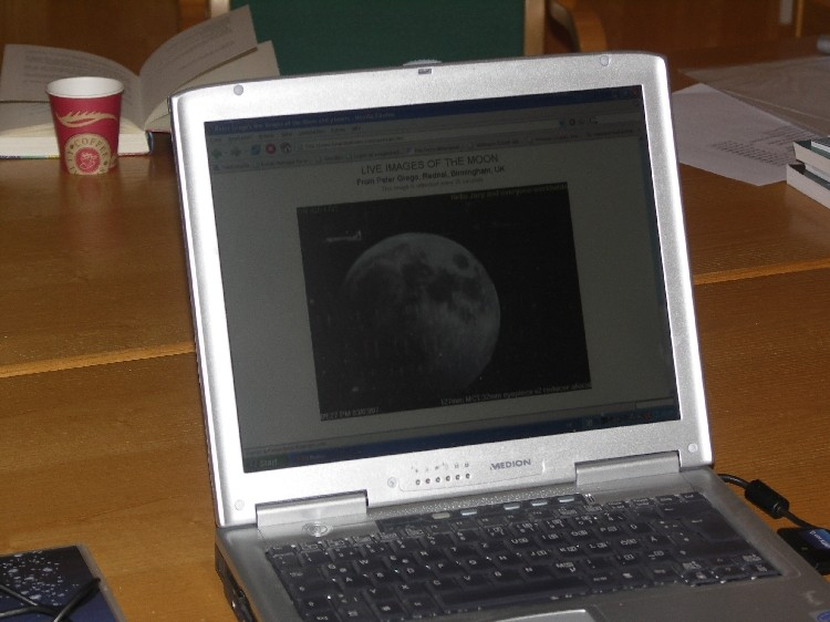 Webcasting Mondfinsternis
