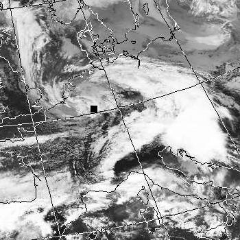 Satellitenbild (Infrarot, Ausschnitt) von NOAA 17 vom 03.03.2007, 10.24 UT